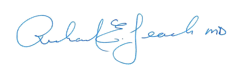 image of dr leach signature